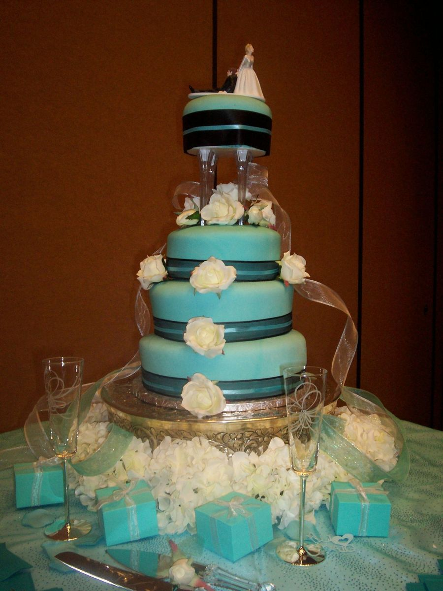 Tiffany & Co Themed Wedding Cake on Cake Central