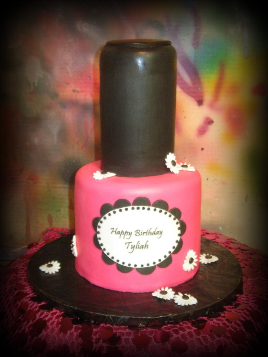 Nail Polish Bottle Birthday Cake Papillon Day Spa
