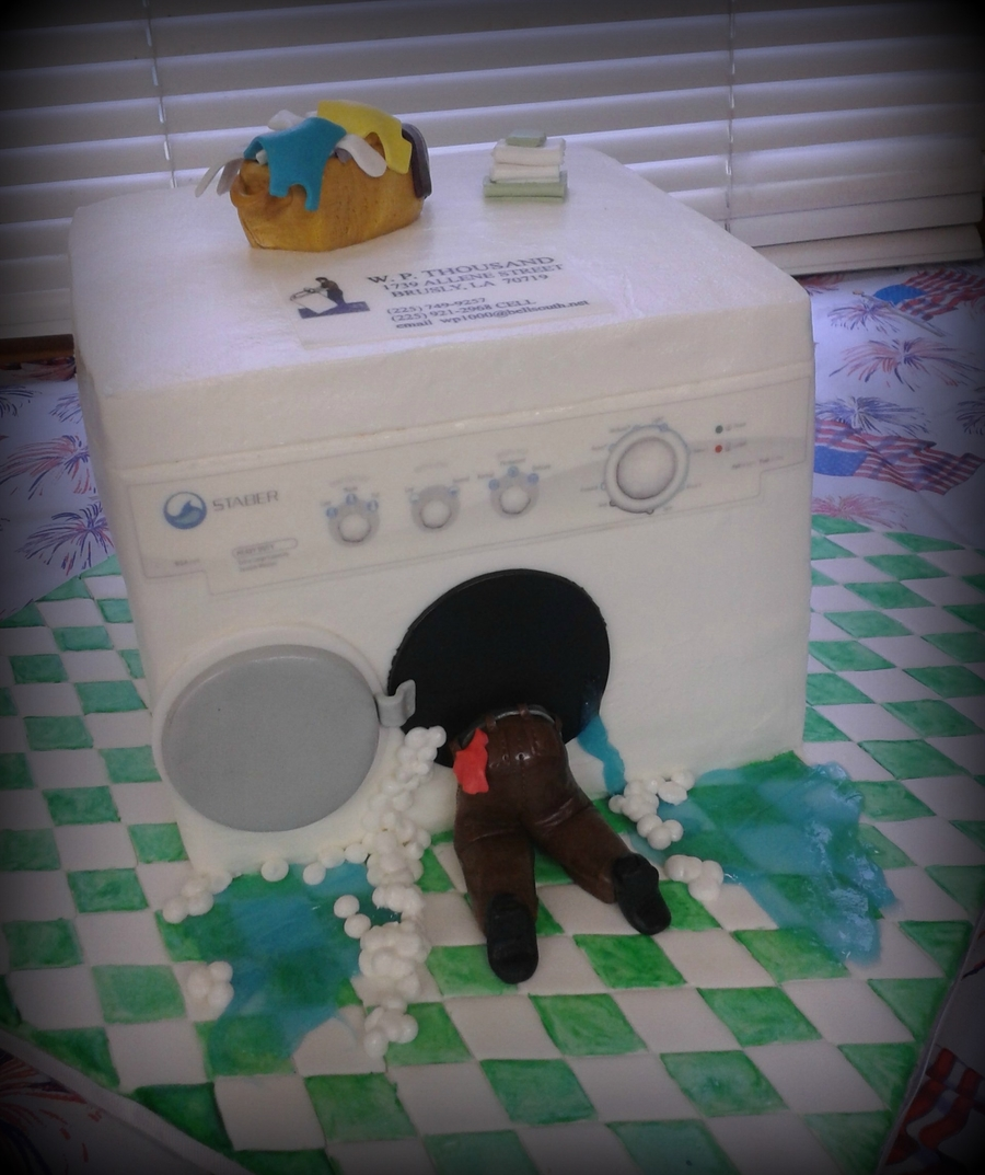 Washing Machine  on Cake Central