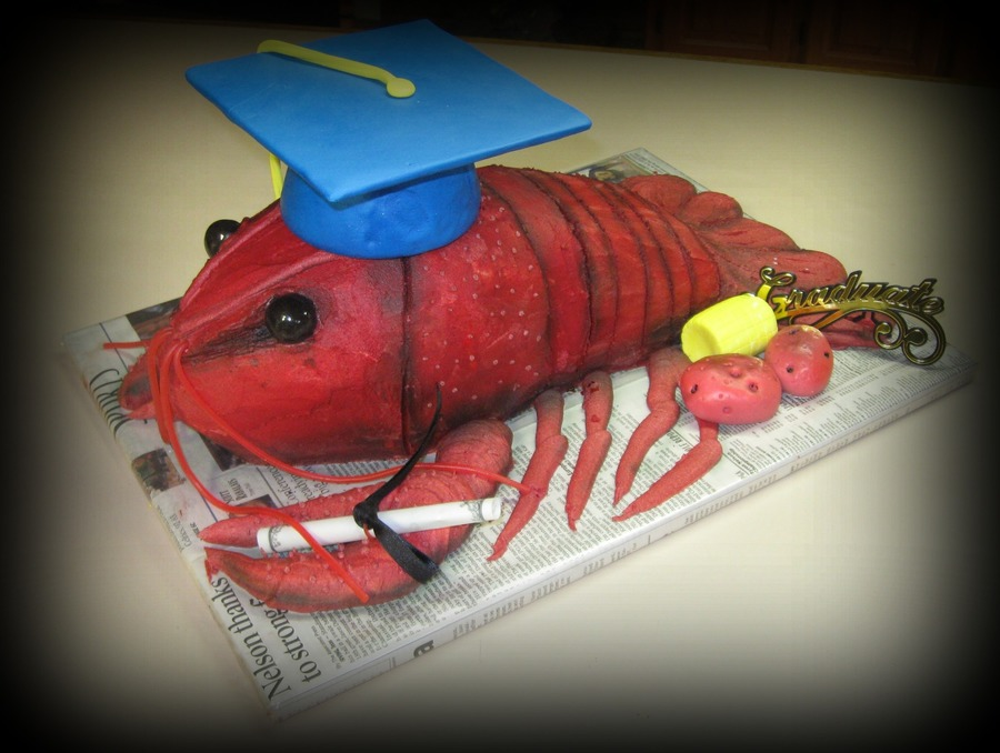 Crawfish Grad on Cake Central