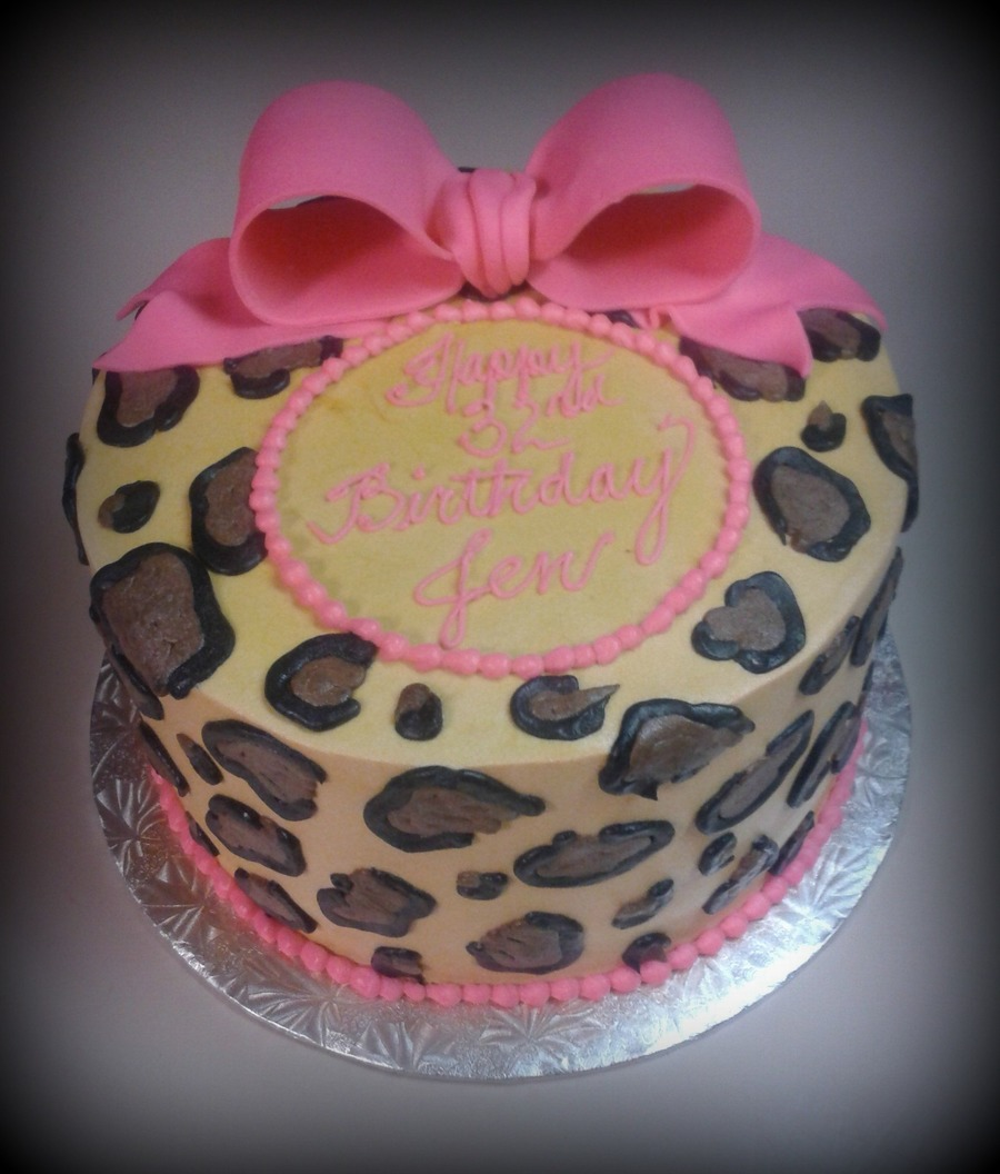 Cheetah & Bow on Cake Central
