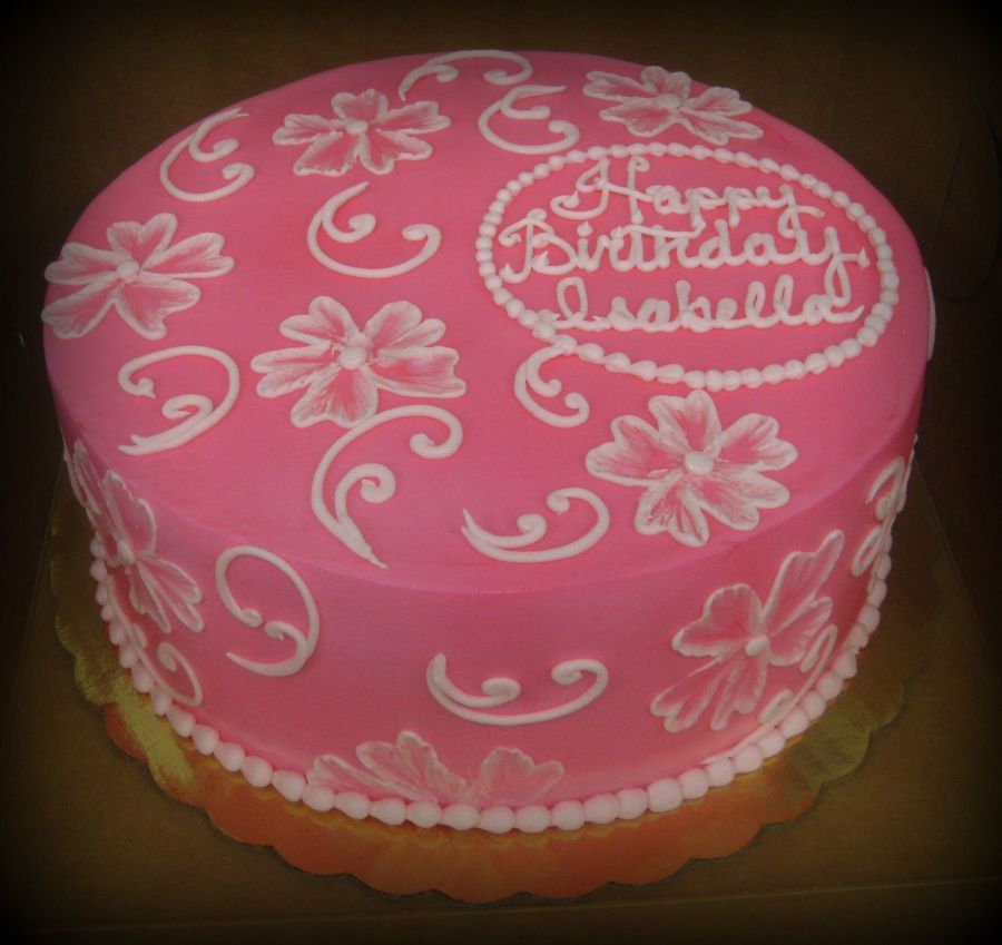 Brushed Embroidery on Cake Central