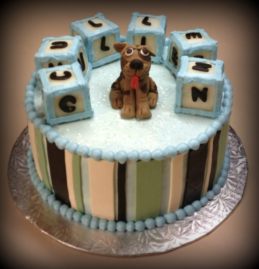 Puppy & Baby Blocks on Cake Central