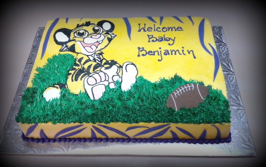 Lsu Baby Tiger on Cake Central