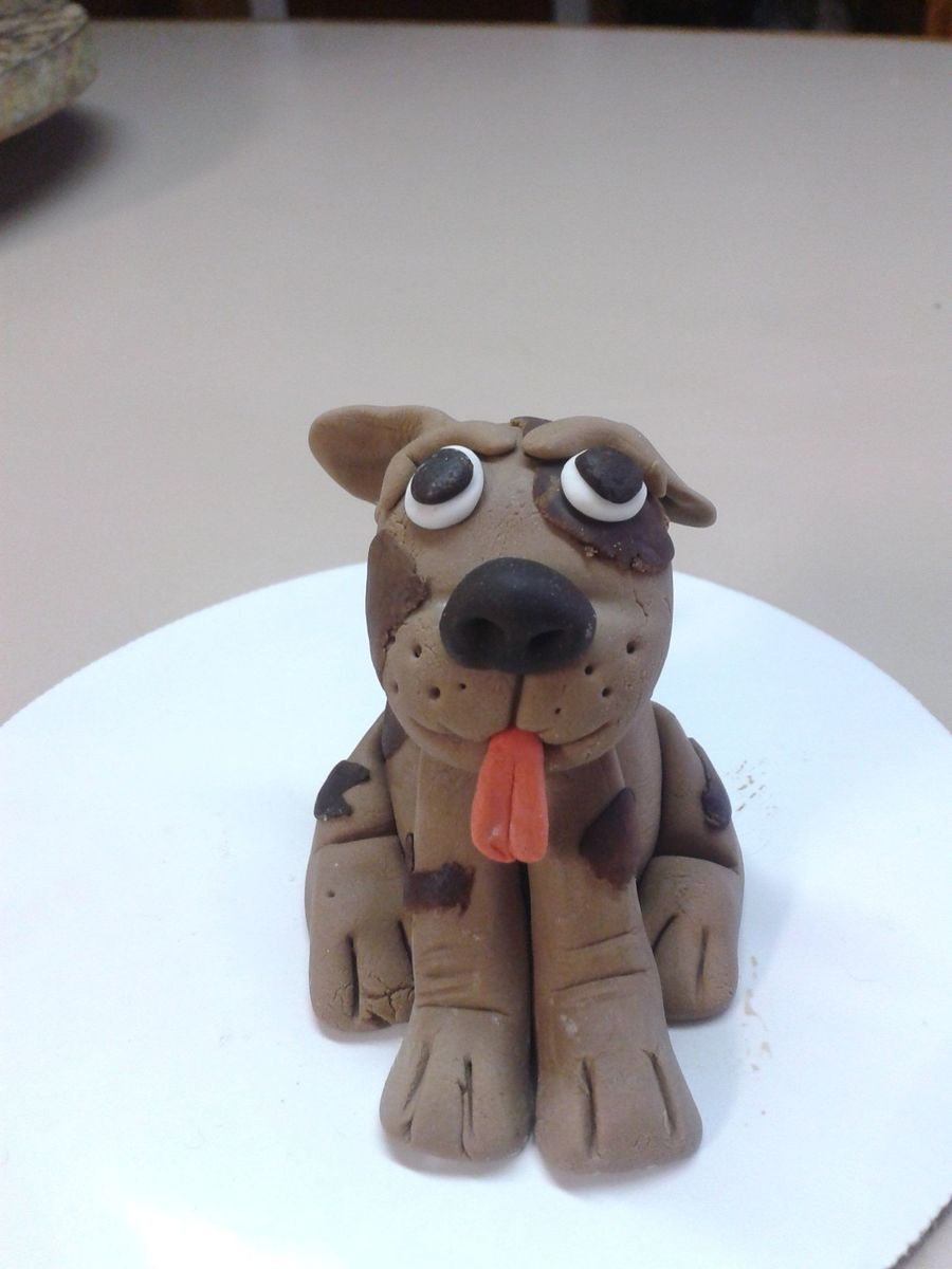 Fondant Puppy on Cake Central