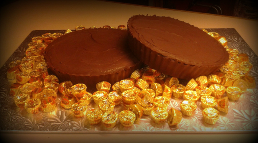 Giant Reese Cup Cakes For Groom on Cake Central