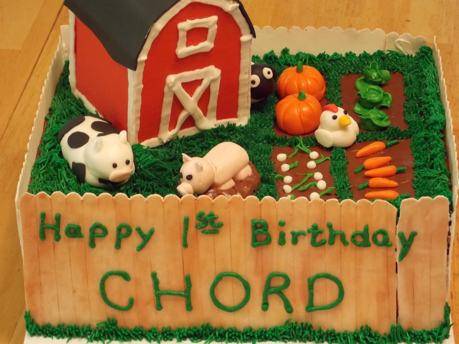 Chord's 1St Bday on Cake Central