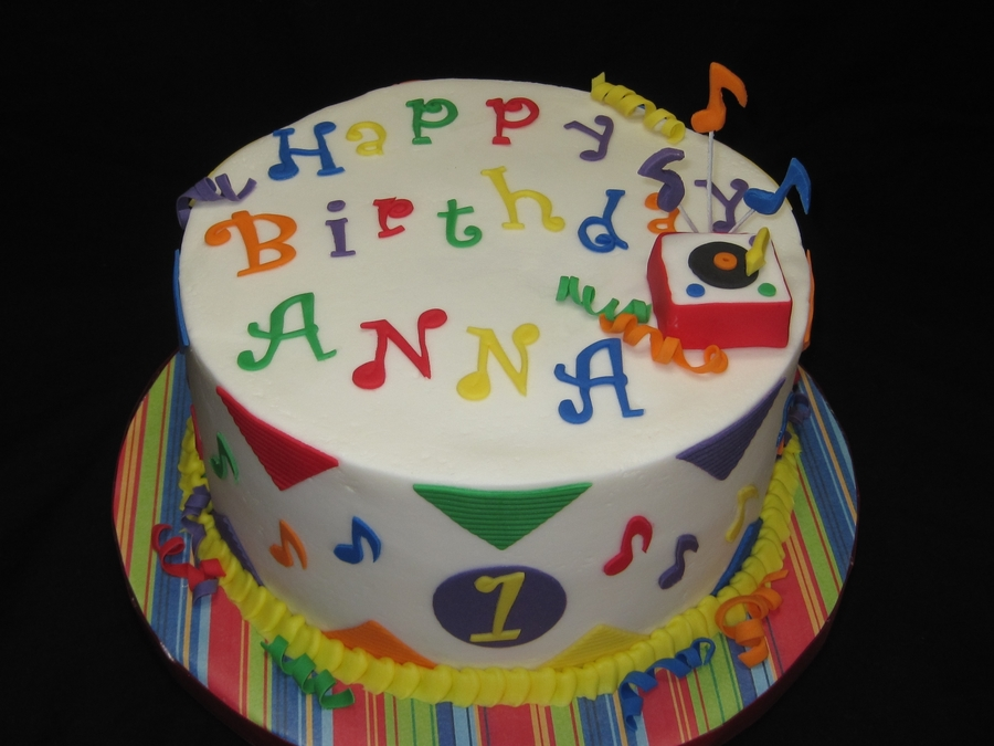 Musical Birthday on Cake Central