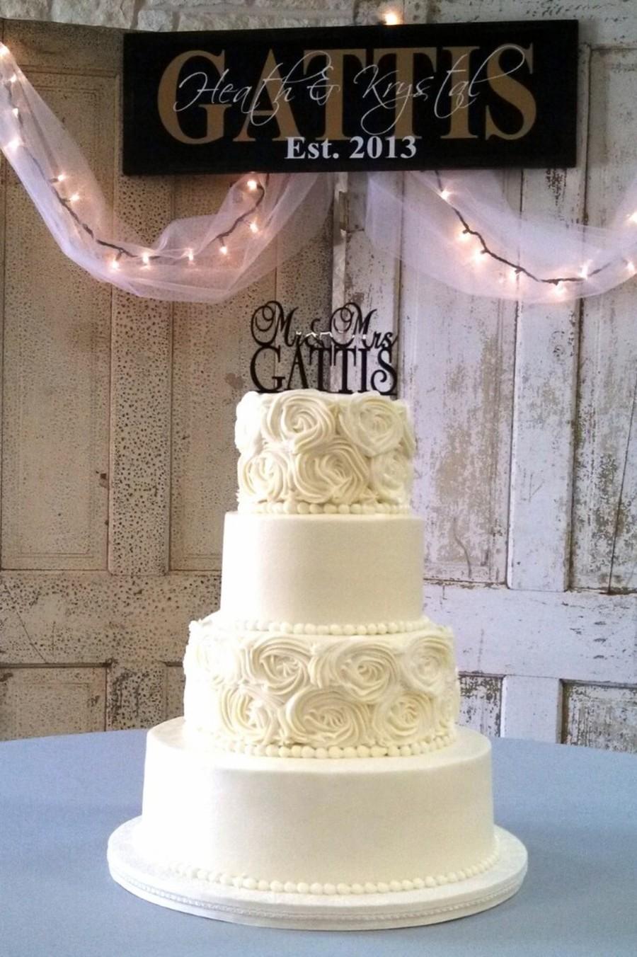 Round Buttercream Rosette Wedding Cake Cakecentral Com