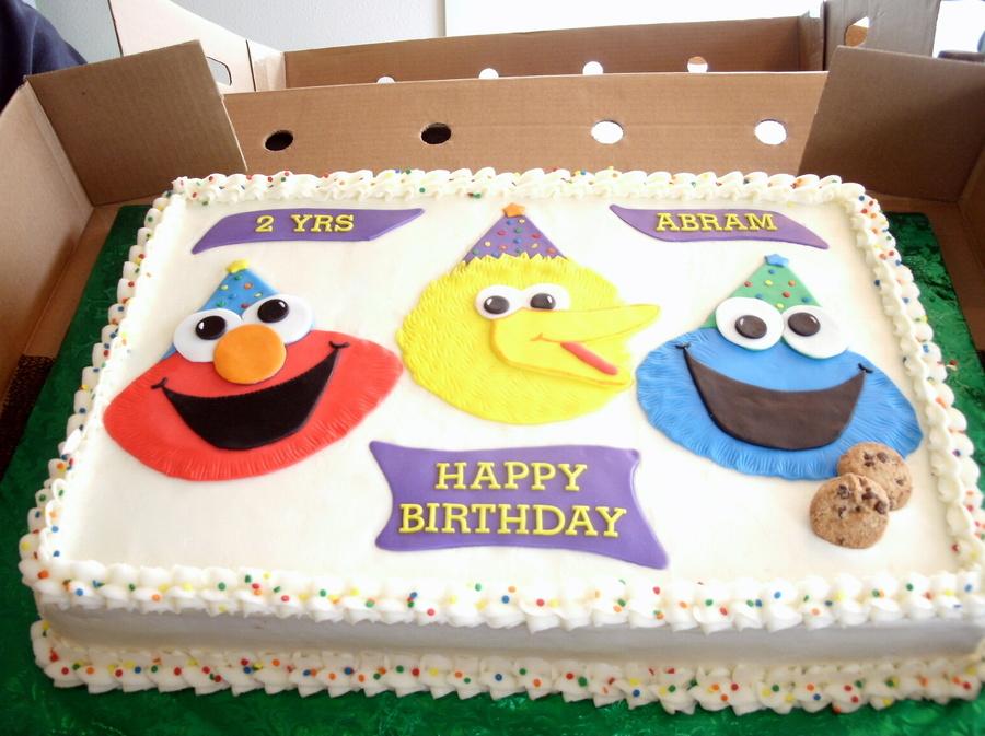 Peachy Sesame Street Half Sheet Birthday Cake Cakecentral Com Personalised Birthday Cards Cominlily Jamesorg