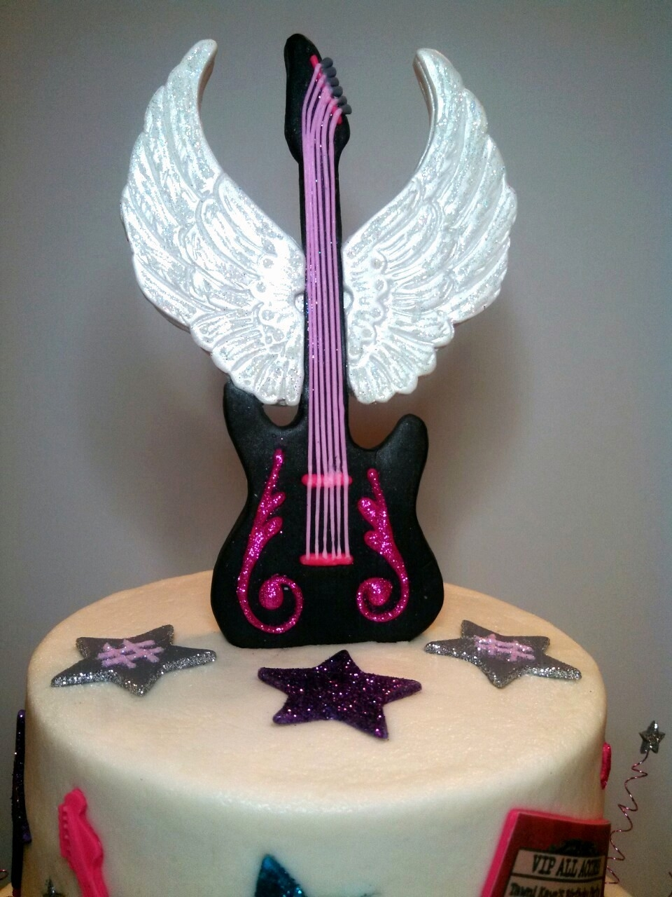 Rock Star Birthday Cake - CakeCentral.com