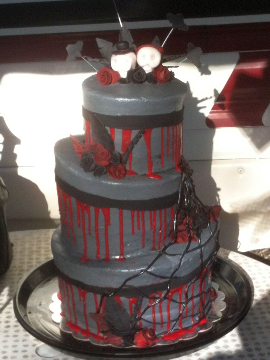 Halloween Wedding on Cake Central