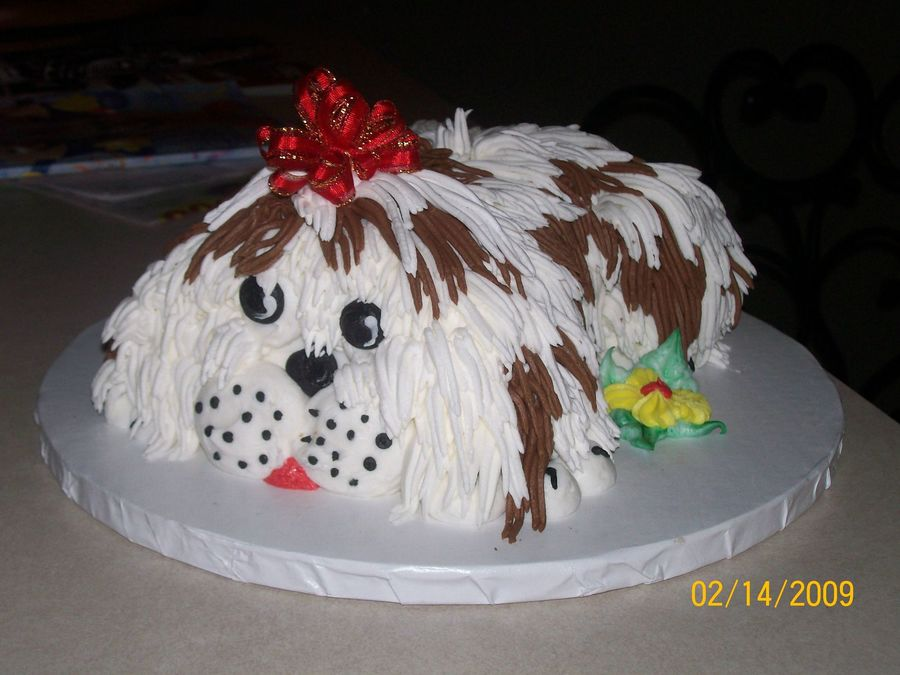 Shaggy Puppy on Cake Central