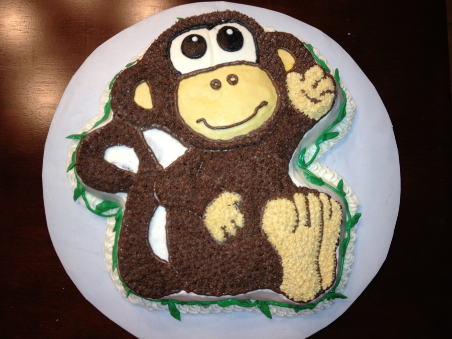 Monkey Cake For Safari Themed Shower on Cake Central