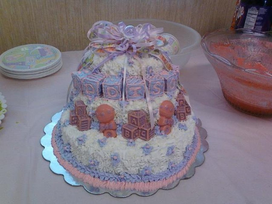 Samantha's Baby Shower Cake on Cake Central