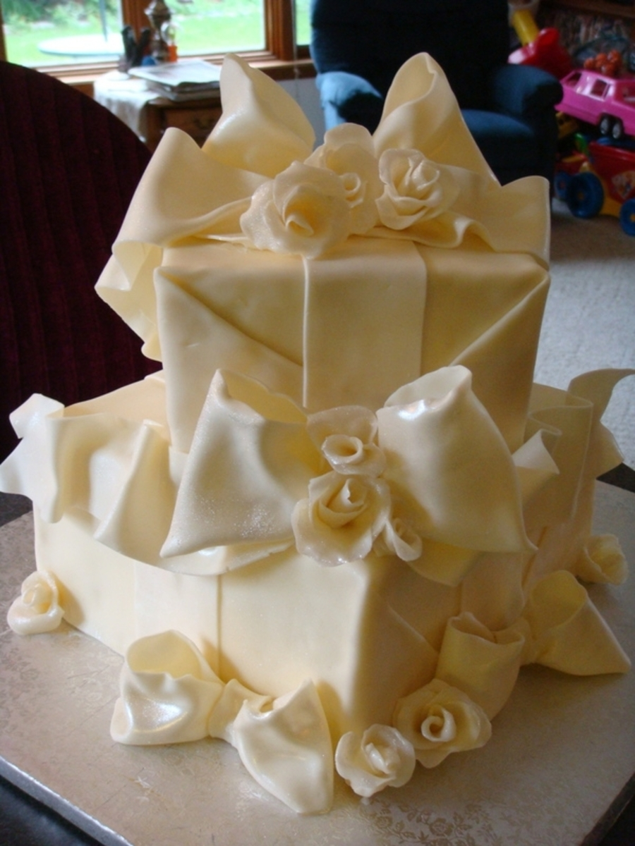 Wedding Shower Cake-Chocolate Wrap on Cake Central