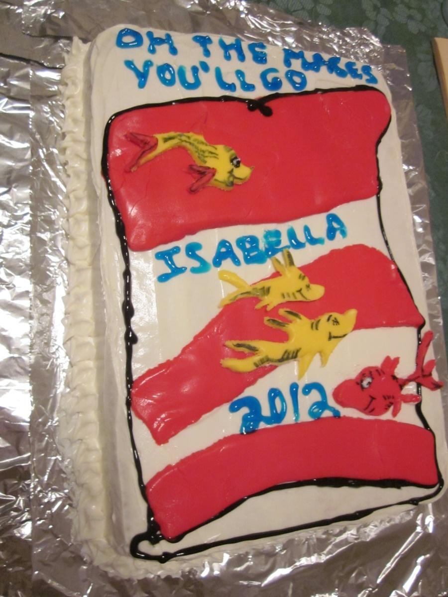 Dr Seuss Graduation Cake Cakecentral Com
