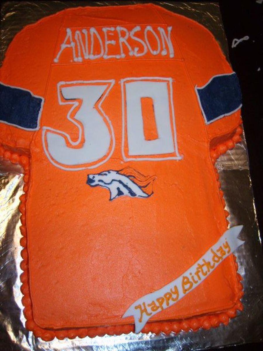 Awesome Denver Broncos 30Th Birthday Cake Cakecentral Com Birthday Cards Printable Trancafe Filternl