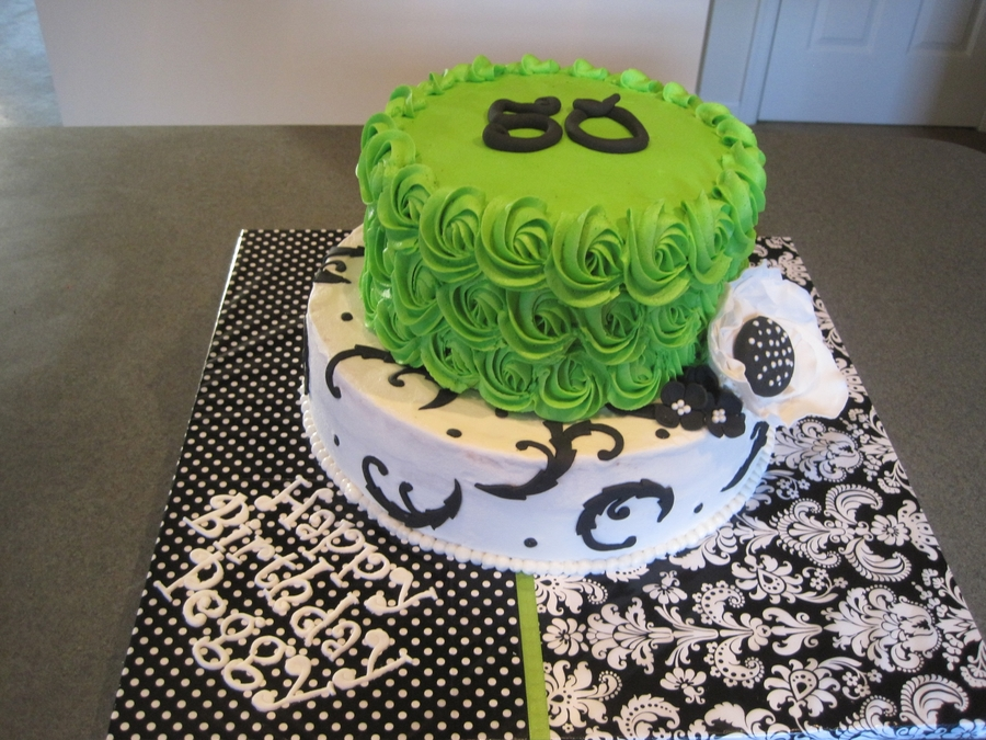 Lime Green And Black 50Th Birthday on Cake Central