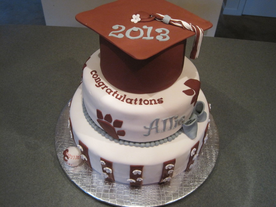 State College High School Softball Graduate on Cake Central