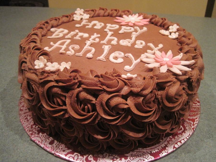 Chocolate Rose Birthday Cake Cakecentral