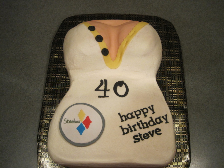 Curvy Steelers Birthday Cake on Cake Central