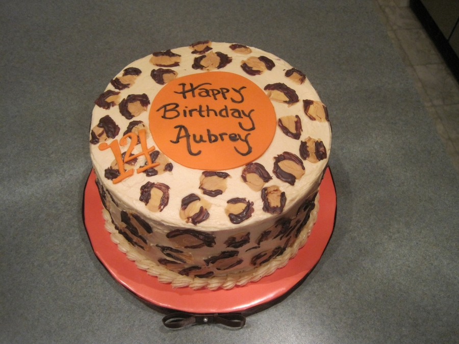 Leopard Print Birthday  on Cake Central