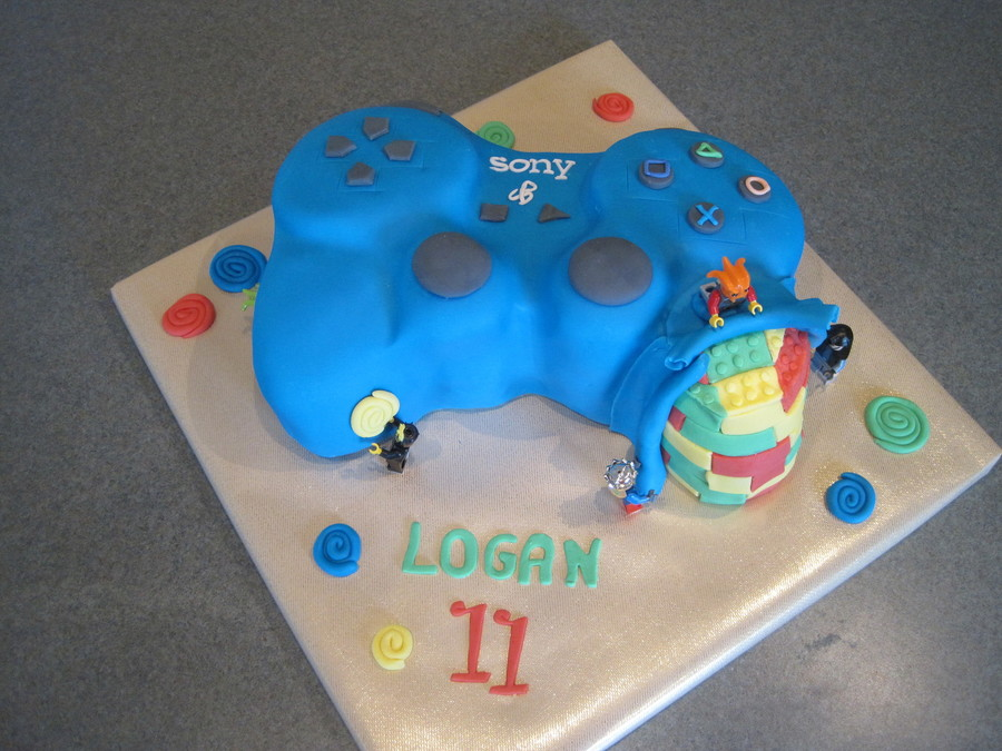 Lego Playstation Contoller Birthday Cake CakeCentralcom