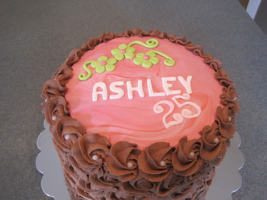 Neon Pink And Green Birthday Cake on Cake Central