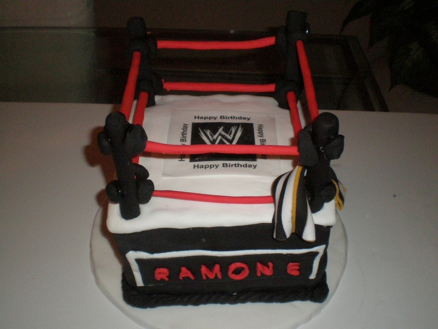 Wwe Wrestling Ring on Cake Central