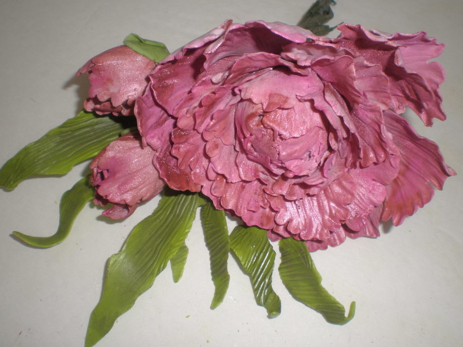 Peony And Buds on Cake Central