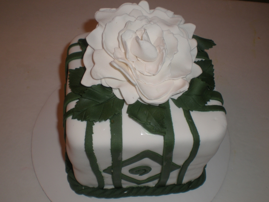 Green And White Fantasy Cake on Cake Central