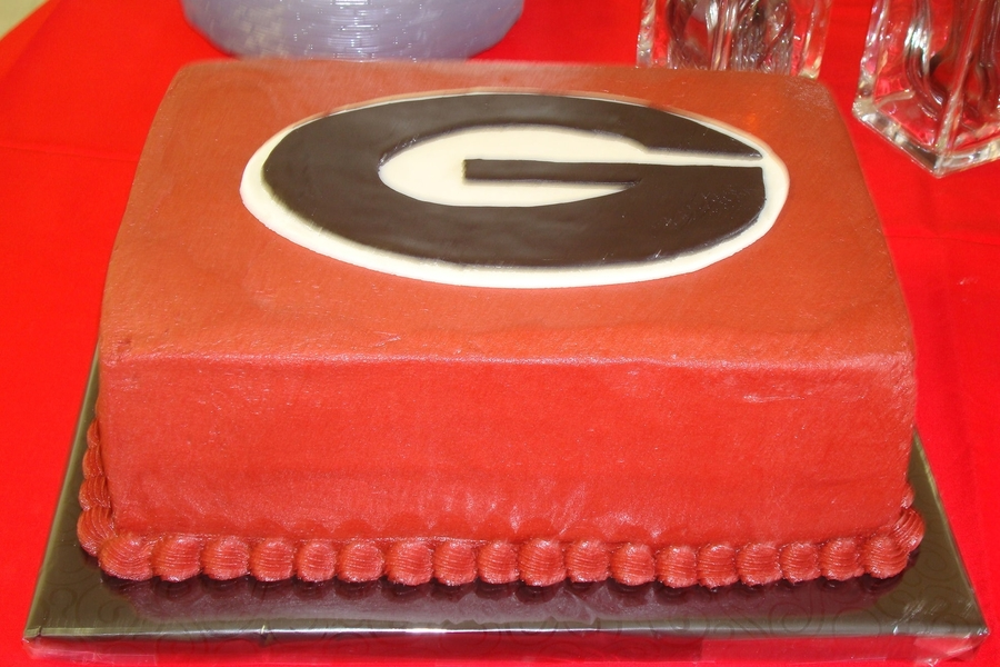 Georgia Grooms Cake  on Cake Central