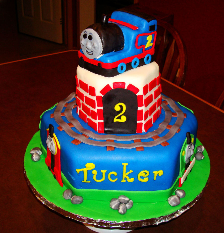 Thomas The Train 2nd Birthday Cake Cakecentral