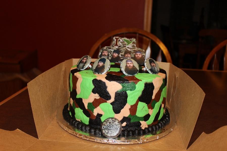 Marvelous Camo Duck Dynasty Birthday Cake Cakecentral Com Personalised Birthday Cards Veneteletsinfo