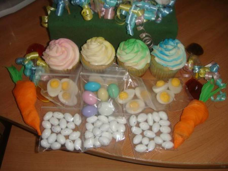 Easter Cupcakes And Candy Table on Cake Central