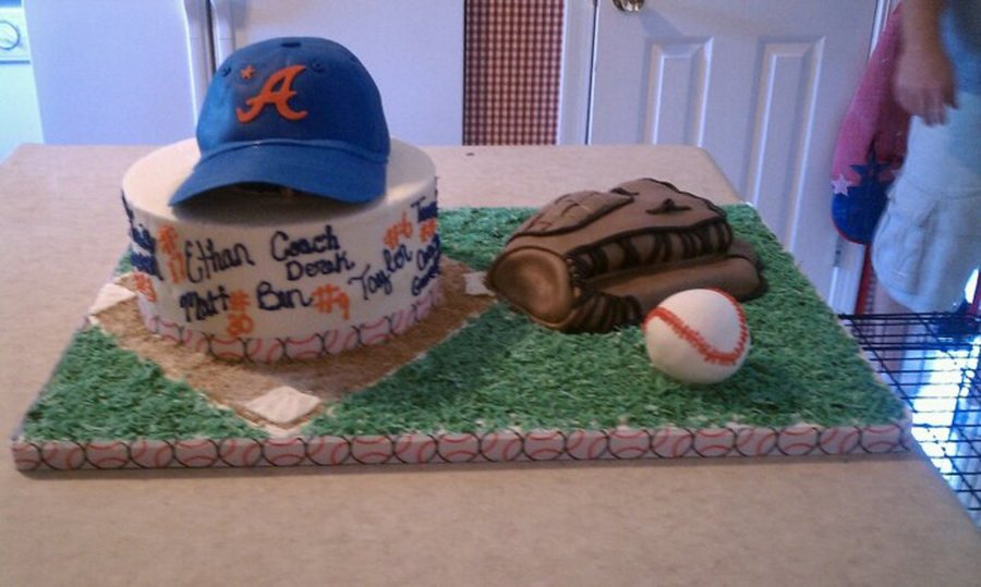 Baseball Theme Cake on Cake Central