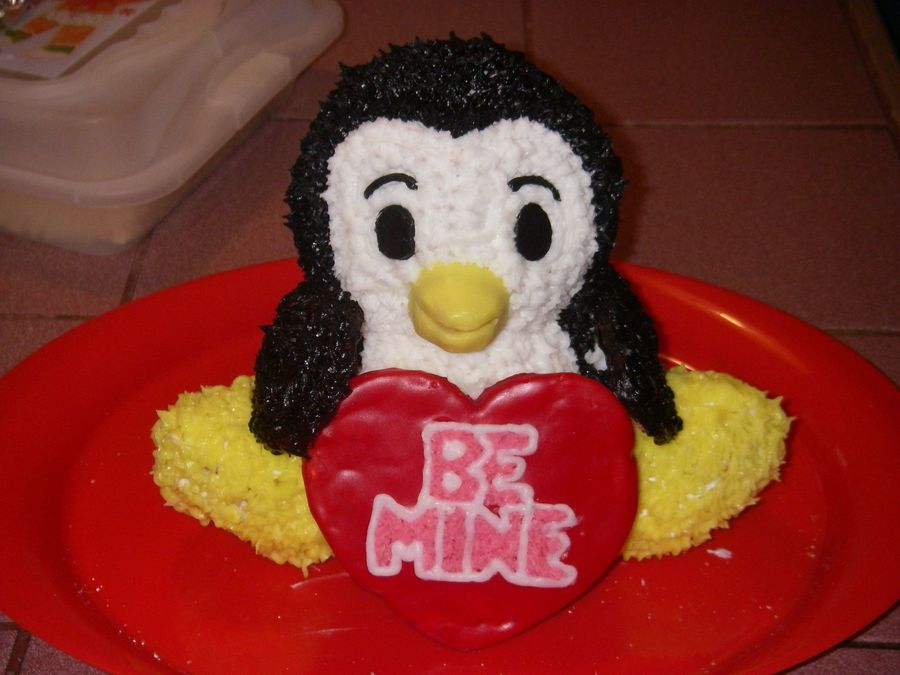 Penguin Love For My Valentine  on Cake Central