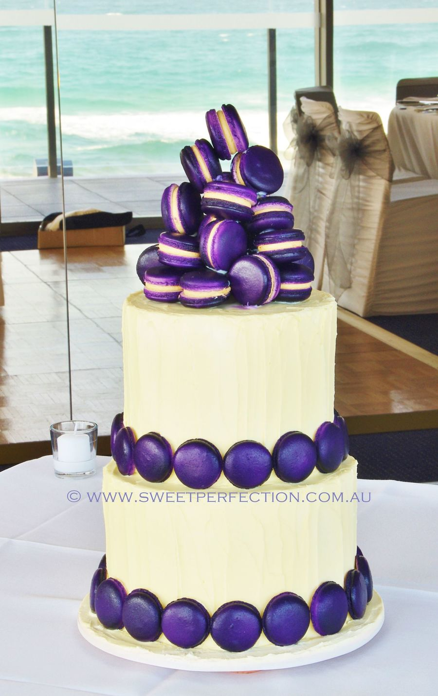 macarons wedding cake purple macaron confection wedding cake cakecentral 16969