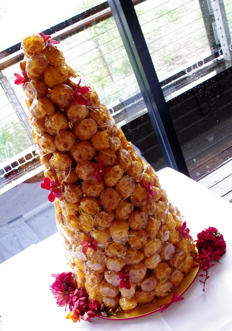 Croquembouche Wedding Cake on Cake Central