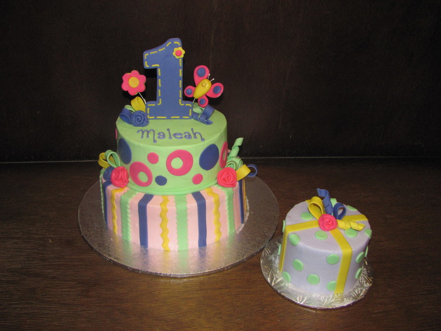 1St Birthday Pastels on Cake Central