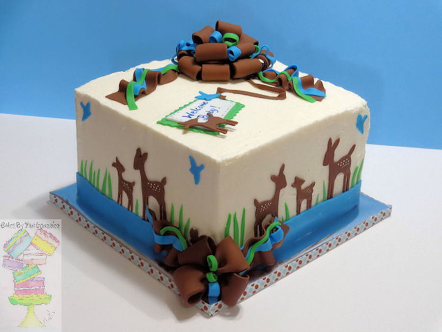 willow deer baby shower cake