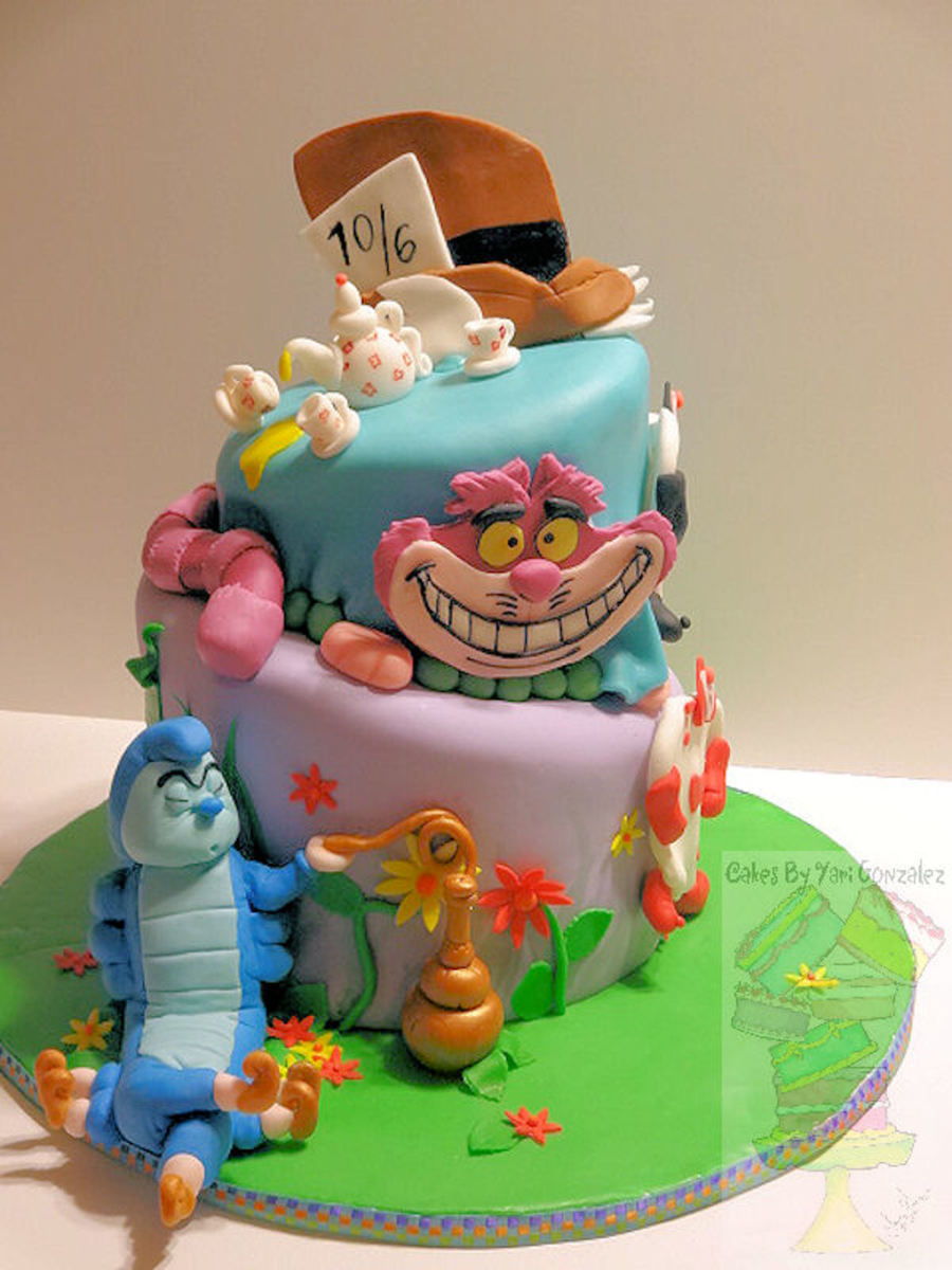 alice in wonderland marble cake filled with an almond
