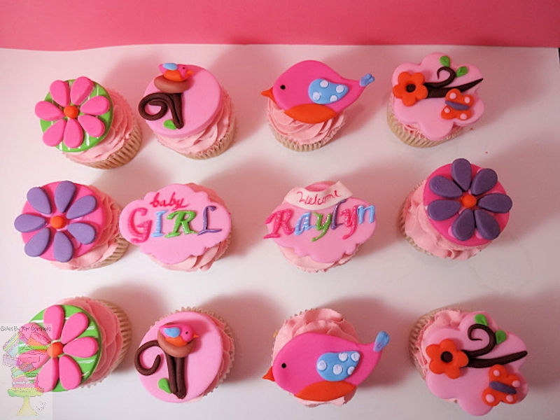 Tweet Bird Baby Girl Shower Cupcake Toppers On Cake Central