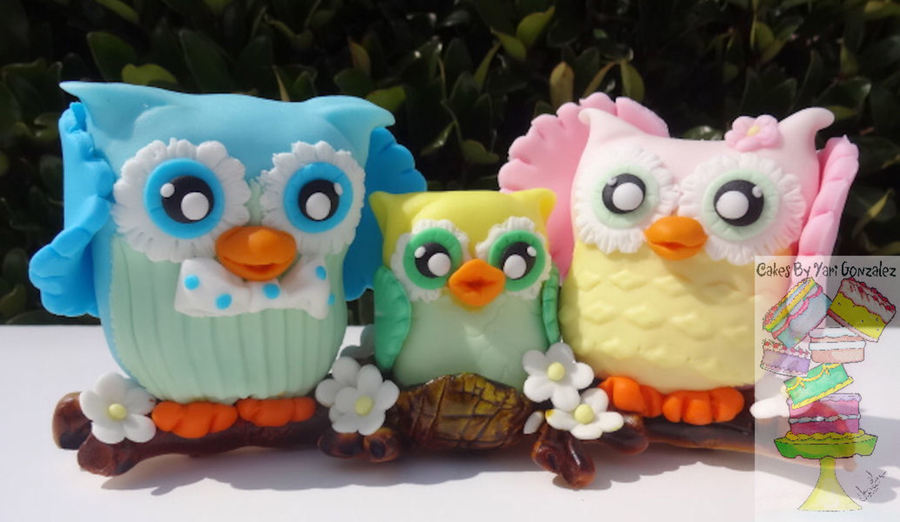 Family Of Owls on Cake Central