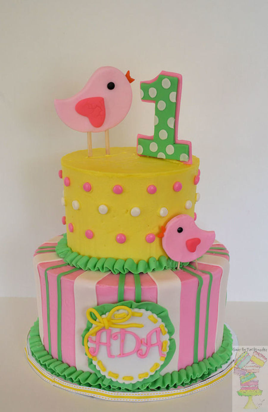 Spring Theme First Birthday Cake! - CakeCentral.com