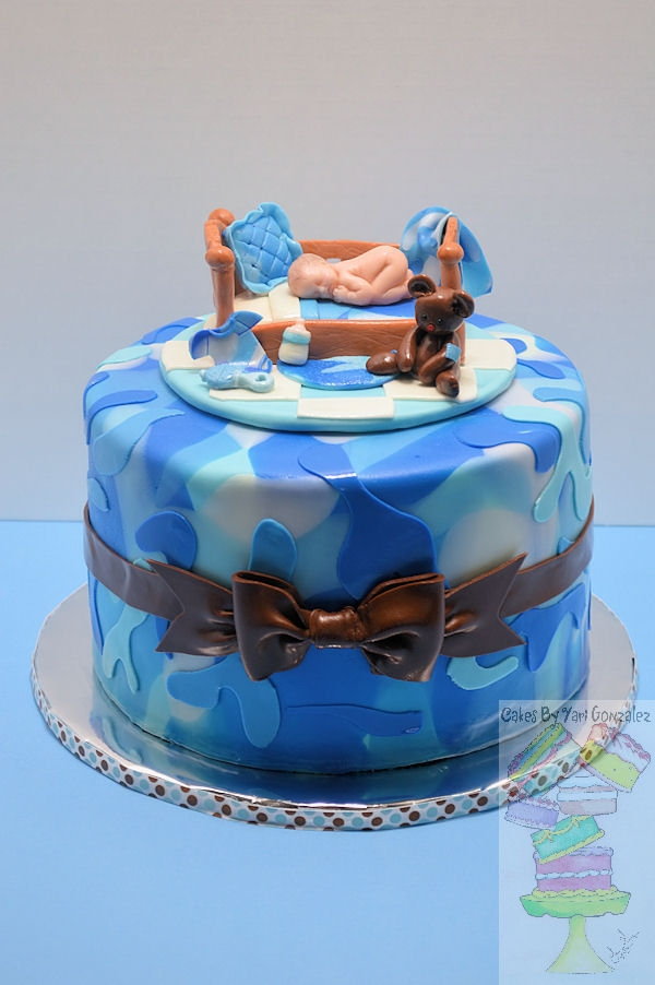 Blue Camo Baby Shower Cake Cakecentral