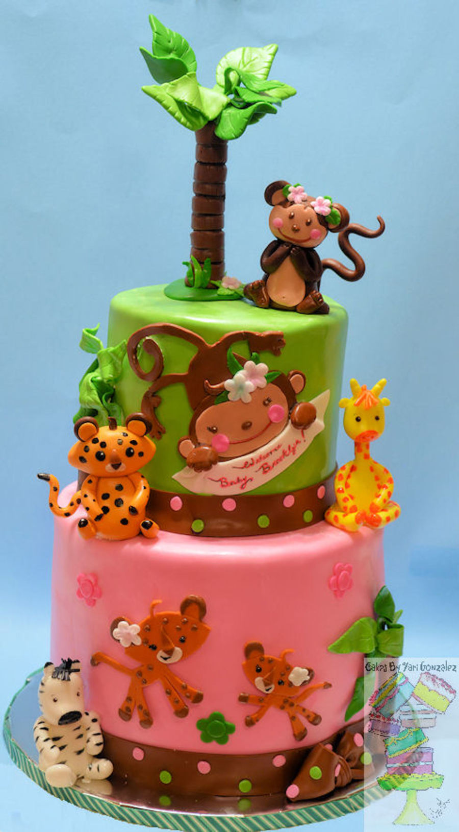 jungle theme for girl baby shower cake on cake central