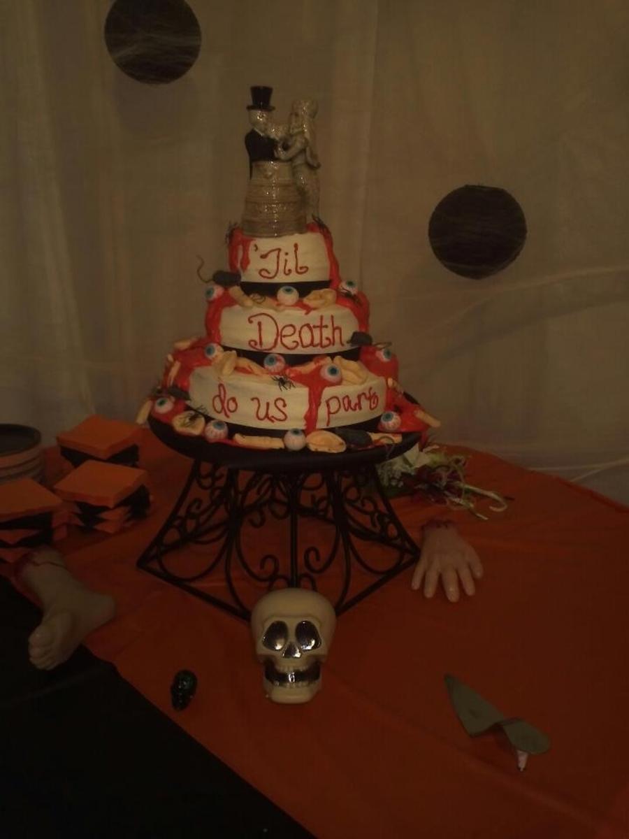 Halloween Themed Wedding Cake! - CakeCentral.com