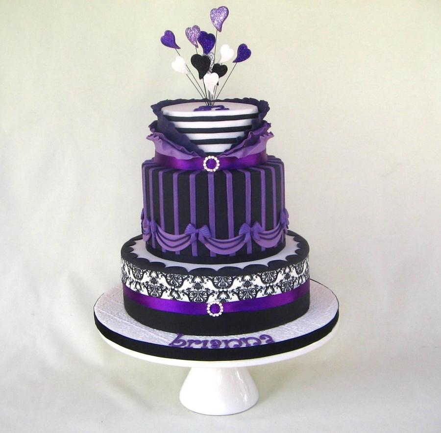 Purple Ruffles Cakecentral Com